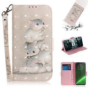 cheap Other Phone Case-Case For Motorola G7 / G7 Plus / G7 Play Wallet / Card Holder / Shockproof Full Body Cases Squirrel PU Leather for  Moto G7 Power/MOTO G5S Plus/MOTO One / MOTO  P30 Play