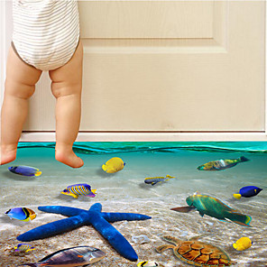 cheap Wall Stickers-Undersea Fish Wall Stickers - Words & Quotes Wall Stickers Characters Study Room / Office / Dining Room / Kitchen
