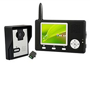 cheap Video Door Phone Systems-Factory OEM Wireless 3.5 inch Hands-free One to One video doorphone