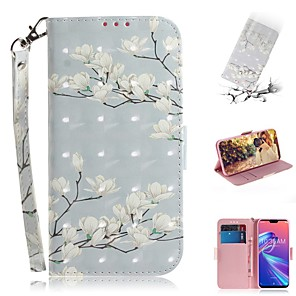 cheap Other Phone Case-Case For Asus Zenfone Max M1 ZB555KL Wallet / Shockproof Cases Magnolia Flower PU Leather for Asus Zenfone Max (M2) ZB633KL/Max Pro (M2) ZB631KL/Zenfone 5 ZE620KL/5Z ZS620KL/Max Pro (M1)/Max Plus (M1)