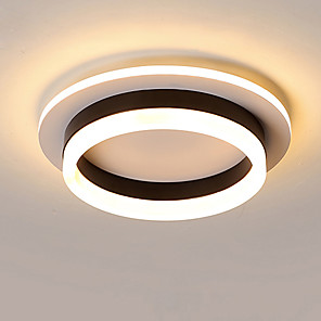cheap Flush Mounts & Semi Flush Mounts-1-Light JSGYlights 25 cm New Design Flush Mount Lights Metal Acrylic Circle Painted Finishes LED / Modern 110-120V / 220-240V