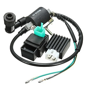 cheap Car Filters-Motorcycle Ignition Coil CDI Unit Rectifier Regulator Fits for 110cc 125cc 140cc Pit Dirt Bike