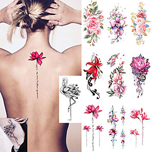 cheap Tattoo Stickers-10 pcs Temporary Tattoos Water Resistant / Best Quality Face / brachium / Shoulder Tattoo Stickers