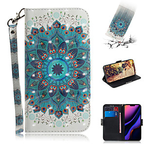 cheap iPhone Cases-Case For Apple iPhone XS / iPhone XR / iPhone XS Max Wallet / Card Holder / with Stand Full Body Cases Flower PU Leather