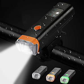 cheap Bike Lights & Reflectors-LED Bike Light Front Bike Light Bicycle Cycling Waterproof 360° Rotation Multiple Modes Smart Induction 350 lm Rechargeable USB 18650 lithium battery Black Cycling / Bike / Super Brightest
