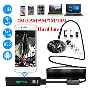 cheap CCTV Cameras-1200P ultra clear endoscope for Apple Android wifi mobile phone endoscope 8mm wireless endoscope hard line 3.5 meters