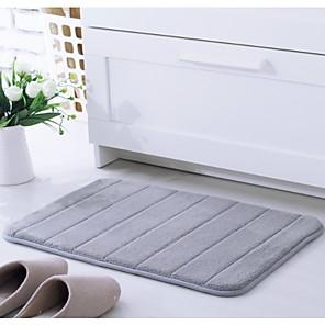 cheap Bathroom Gadgets-1pc Modern Bath Mats Coral Velve Stripes Non-Slip