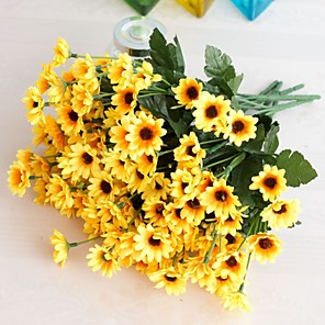 cheap Artificial Plants-1Pc Fake Flower Bud Flower Decoration Home Decoration Shooting Props Flower Arrangement Accessories 24 Head Gerbera