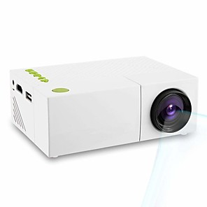 cheap Projectors-Portable Mini Home Theater Support Handheld Remote Control Projector Brightness 400 LUX White US Plug YG310