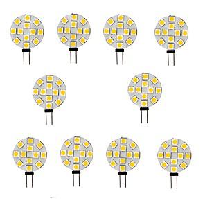 cheap LED Bi-pin Lights-10pcs 2 W LED Bi-pin Lights 200 lm G4 12 LED Beads SMD 5050 Warm White White 12 V