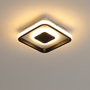 cheap Dimmable Ceiling Lights-1-Light 20 cm LED Flush Mount Lights Metal Acrylic Linear Painted Finishes LED / Modern 110-120V / 220-240V