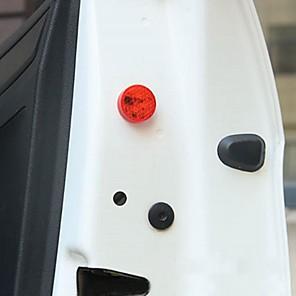 cheap Warning Lights-Universal Wireless LED Car Door Opening Warning Signal Light Safety Flash Lamp Anti-collision Waterproof Red 2PCS