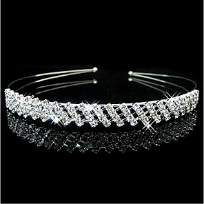 cheap Hair Jewelry-Women's For Party Party Evening Cubic Zirconia Silver Plated Alloy Silver 1pc