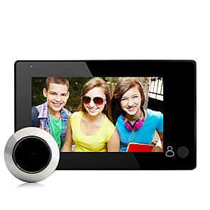tanie Videofony-fabrycznie OEM 1024 x 600 bezprzewodowy 4,3 cala 15mm dzwonek do obiektywu kąt widzenia 145 ° głośnomówiący jeden do jednego wideo domofon inteligentny dom wystrój drzwi akcesoria