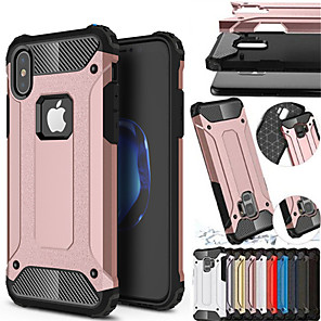 cheap iPhone Cases-Shockproof Cover Phone Case For Apple iphone XS Max XR iphone XS iphone X Rubber Armor Hybrid PC Hard Cover For iphone 8 Plus iphone 8 iphone 7 Plus iphone 7 iphone 6 Plus iphone 6 Silicone TPU Case