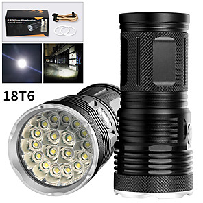 cheap Flashlights & Camping Lanterns-EX18 LED Flashlights / Torch Waterproof 14200 lm LED LED 18 Emitters Manual 3 Mode Waterproof Professional Anti-Shock Easy Carrying Durable Camping / Hiking / Caving Police / Military Cycling / Bike