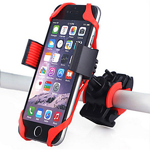 cheap Phone Mounts & Holders-Bike Phone Mount Adjustable 360°Rolling / Rotatable GPS for Road Bike Mountain Bike MTB Motorcycle Silicon ABS iPhone X iPhone XS iPhone XR Cycling Bicycle Black Red Blue 1 pcs