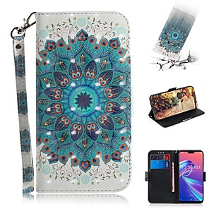 cheap Other Phone Case-Case For Asus Zenfone Max M1 ZB555KL Wallet / Shockproof Cases Peacock Tail PU Leather for Zenfone Max M2 ZB633KL/Max Pro (M2) ZB631KL/Zenfone 5 ZE620KL/5Z ZS620KL/Max Pro (M1)/Max Plus (M1)/Max (M1)