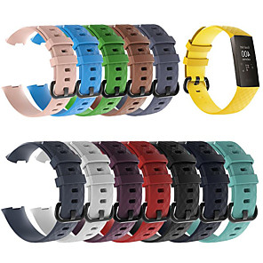 cheap Smartwatch Bands-Silicone Sports Replacement Watch Bands Wrist Strap For Fitbit Charge 3 Fitbit Charge3 Smart Bracelet Wrist Band