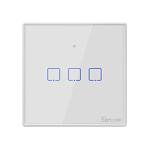 cheap Smart Plug-SONOFF T2EU3C-TX 100-240V TX Series WIFI Wall Switch Smart Wall Touch Light Switch For Smart Home Work With Alexa Google Home