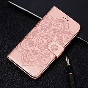 cheap Other Phone Case-Case For Motorola MOTO One Power / MOTO One / MOTO P30 Play Wallet / Card Holder / with Stand Full Body Cases Flower Hard PU Leather