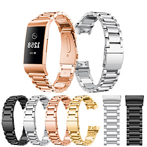 cheap Smartwatch Bands-For Fitbit Charge 3 / Fitbit Charge 4 Band Stainless Steel Watch Band For Fitbit Charge 3 / 4 Watch Strap Metal WatchBand Strap Wrist Watches Bracelet