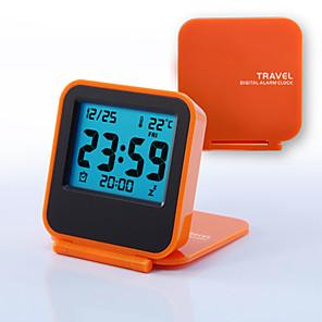cheap Wall Stickers-Mini Portable Travel Clamshell Electronic Night Lamp LED Digital Desk Alarm Clock