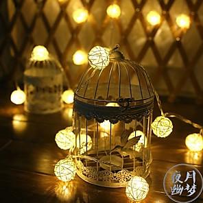 cheap LED String Lights-3.5M 20 LED Sepaktakraw String Lights Outdoor Waterproof Battery Box Night Lamp Festival Wedding Party Yard Decoration