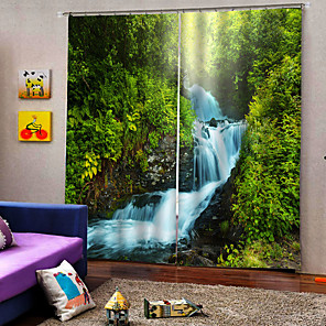 cheap Christmas Decorations-Luxury Wholesale Landscapes 3D UV Printing Window Curtains Drapes 100% Polyester Blackout Fabric for Bedroom /Living Room/ Hotel