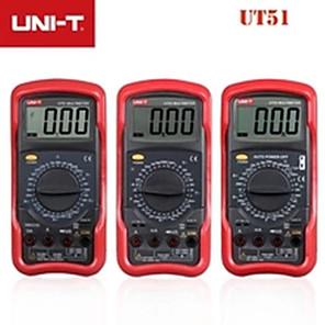 Недорогие Цифровые мультиметры и осциллографы-uni-t многофункциональный высокоточный цифровой мультиметр ut51voltmeter амперметр омметр электрический счетчик
