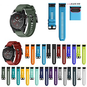 cheap Smartwatch Bands-26 22 20MM Watchband for Garmin Fenix 5X 5S 5 3 3 HR for Fenix 6X 6 6S Watch Quick Release Silicone Easyfit Wrist Band Strap