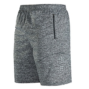 cheap Running & Jogging Clothing-Men's Running Shorts Athletic Pants / Trousers Fitness Gym Workout Basketball Running Lightweight Breathable Quick Dry Plus Size Sport Black Gray Solid Colored / Stretchy