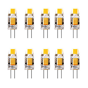 cheap LED Bi-pin Lights-10pcs 1.5 W LED Bi-pin Lights 3000 lm G4 1 LED Beads Warm White White 12 V