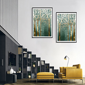 cheap Framed Arts-Framed Art Print Framed Set - Still Life Floral / Botanical PS Illustration Wall Art