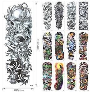 cheap Tattoo Stickers-20 pcs Tattoo Designs Temporary Tattoos Tattoo Designs For Men Full Arm Cool Tattoo Designs Water Resistant Dragon Tattoo Design QB3001-3020