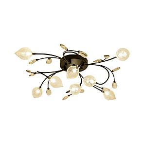 cheap Dimmable Ceiling Lights-ZHISHU 8-Light 75 cm Crystal Creative Flush Mount Lights Metal Glass Cluster Empire Bowl Electroplated Artistic Chic & Modern 110-120V 220-240V G4