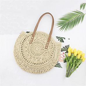 cheap Handbag & Totes-Women's Bags Straw Tote for Daily / Holiday Brown / Beige / Straw Bag