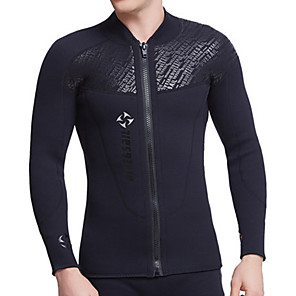 cheap Wetsuits, Diving Suits & Rash Guard Shirts-Dive&Sail Men's Wetsuit Top Wetsuit Jacket 3mm Diving Suit Top Breathable Quick Dry Anatomic Design Long Sleeve Swimming Diving Classic Spring Summer / Stretchy