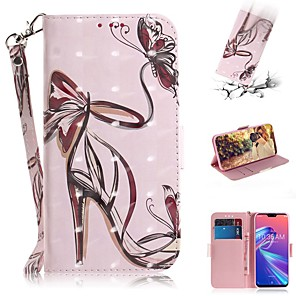 cheap Other Phone Case-Case For Asus Zenfone Max M1 ZB555KL Wallet / Shockproof Cases High Heels PU Leather for Zenfone Max (M2) ZB633KL/Max Pro (M2) ZB631KL/Zenfone 5 ZE620KL/ 5Z ZS620KL/Max Pro (M1)/Max Plus (M1)/Max (M1)
