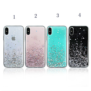 cheap iPhone Cases-Case For Apple iPhone XR / iPhone XS MaxGlitter Shine / Shockproof Back Cover Glitter Shine Soft TPU for iPhone 6 / iPhone 6 Plus / 7/ 7PIUS /8 /8PIUS /X /XS