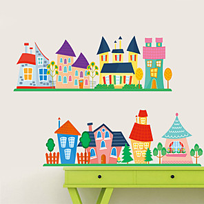 cheap Wall Stickers-Still Life / 3D Wall Stickers Plane Wall Stickers Decorative Wall Stickers, PVC Home Decoration Wall Decal Wall Decoration 1pc / Removable