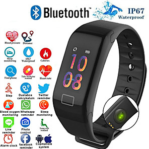 cheap Smart Wristbands-F1 Smart Bracelet Heart Rate Monitor Blood Pressure Smart Band Health Fitness Tracker Smart Wristband for Android iOS