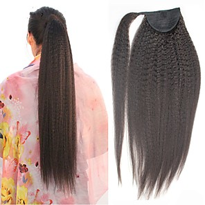 cheap Hair Pieces-Hair weave Ponytails Women Human Hair Hair Piece Hair Extension Straight 14 inch Daily Wear