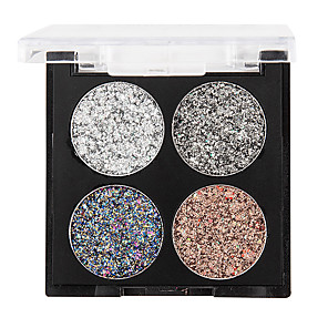 cheap Eyeshadows-4 Colors Eyeshadow EyeShadow Outdoor Pro Easy to Use Ultra Light (UL) Professional Daily Makeup Cosmetic Gift