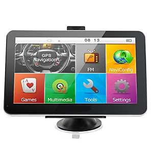 cheap Car Audio-7 inch Car gps navigation 800Mhz CPU FM Transmitter Sat Nav Bundle free new maps