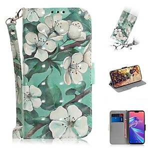 cheap Other Phone Case-Case For Asus Zenfone Max M1 ZB555KL Wallet / Shockproof Cases Flower PU Leather for Asus Zenfone Max (M2) ZB633KL/Max Pro (M2) ZB631KL/Zenfone 5 ZE620KL/5Z ZS620KL/Max Pro (M1)/Max Plus (M1)/Max (M1)