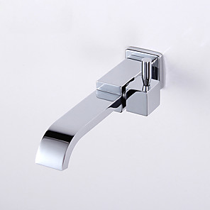 cheap Bathroom Sink Faucets-Bathroom Sink Faucet - Waterfall Chrome Wall Mounted Single Handle One HoleBath Taps