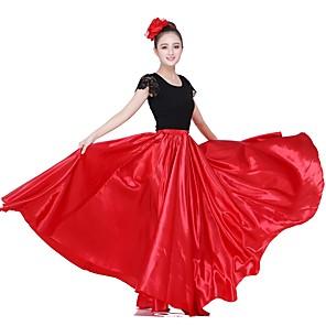 cheap Latin Dancewear-Latin Dance Skirts Gore Women's Performance Natural Matte Satin