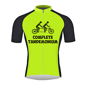 cheap Cycling Jerseys-21Grams Funny Humor Men's Short Sleeve Cycling Jersey - Black / Green Bike Jersey Top Breathable Quick Dry Reflective Strips Sports 100% Polyester Mountain Bike MTB Road Bike Cycling Clothing Apparel