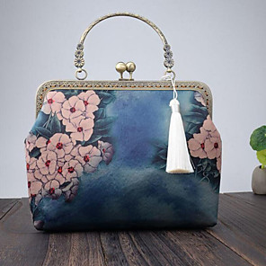cheap Clutches & Evening Bags-Women's Embroidery Polyester Evening Bag Embroidery Blue